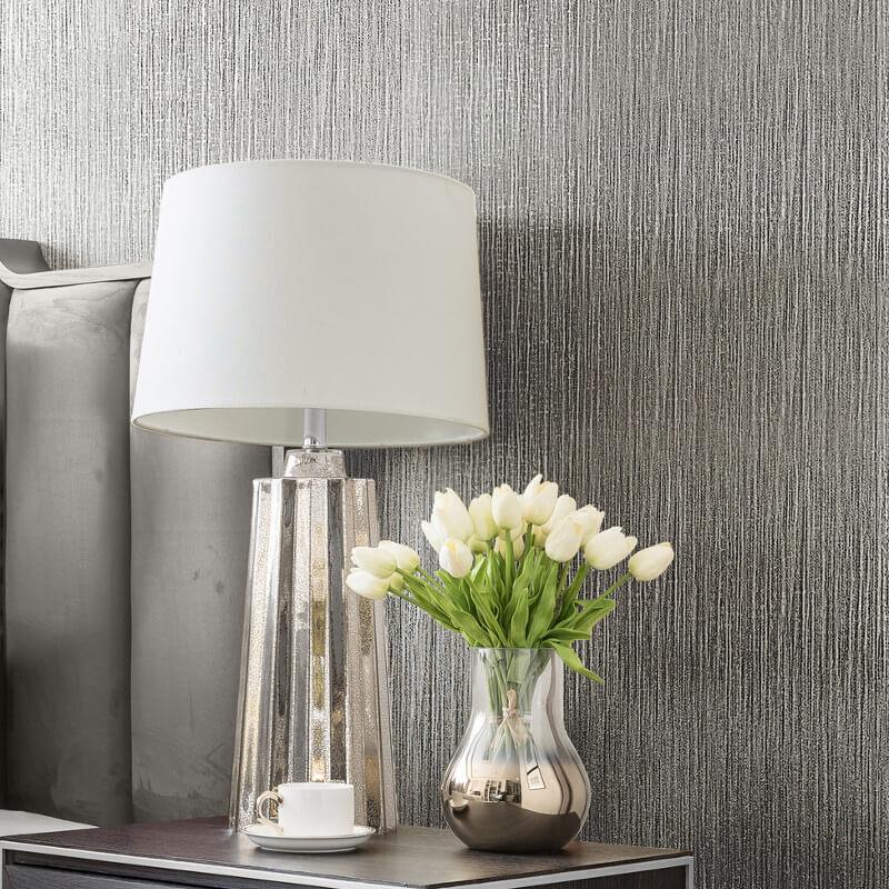 Muriva Serena Texture Silver Metallic Wallpaper - 701458