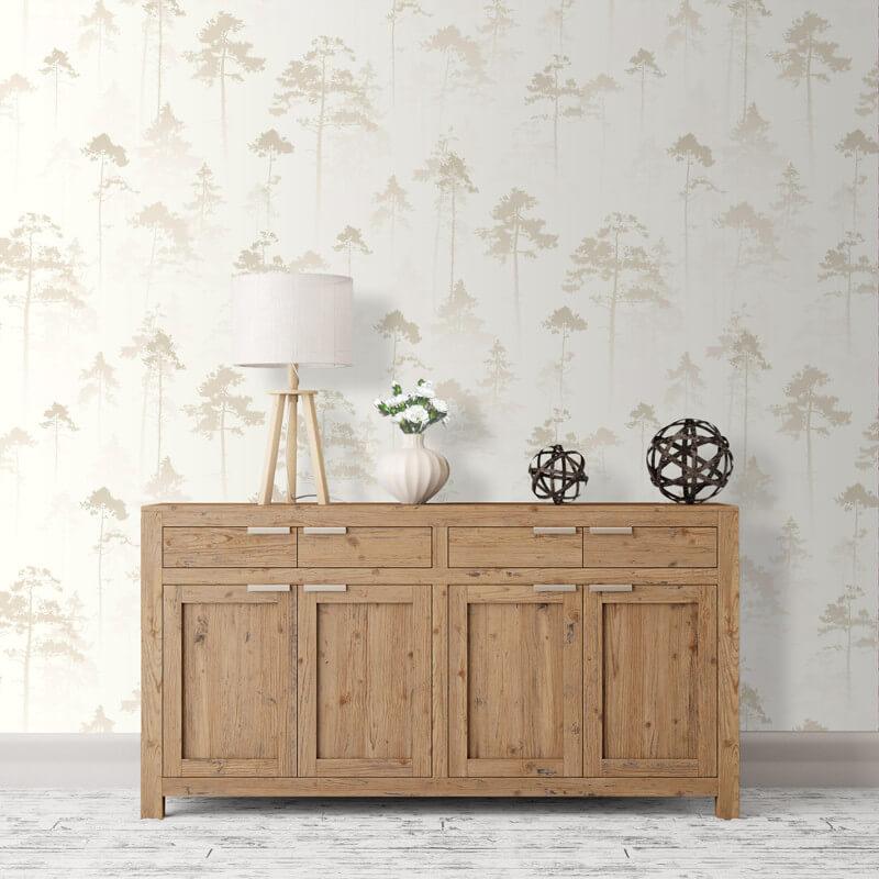 Muriva Sherwood Tree Cream Wallpaper - 143504