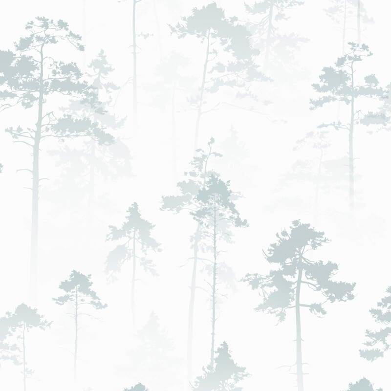 Muriva Sherwood Tree Duck Egg Wallpaper - 143502