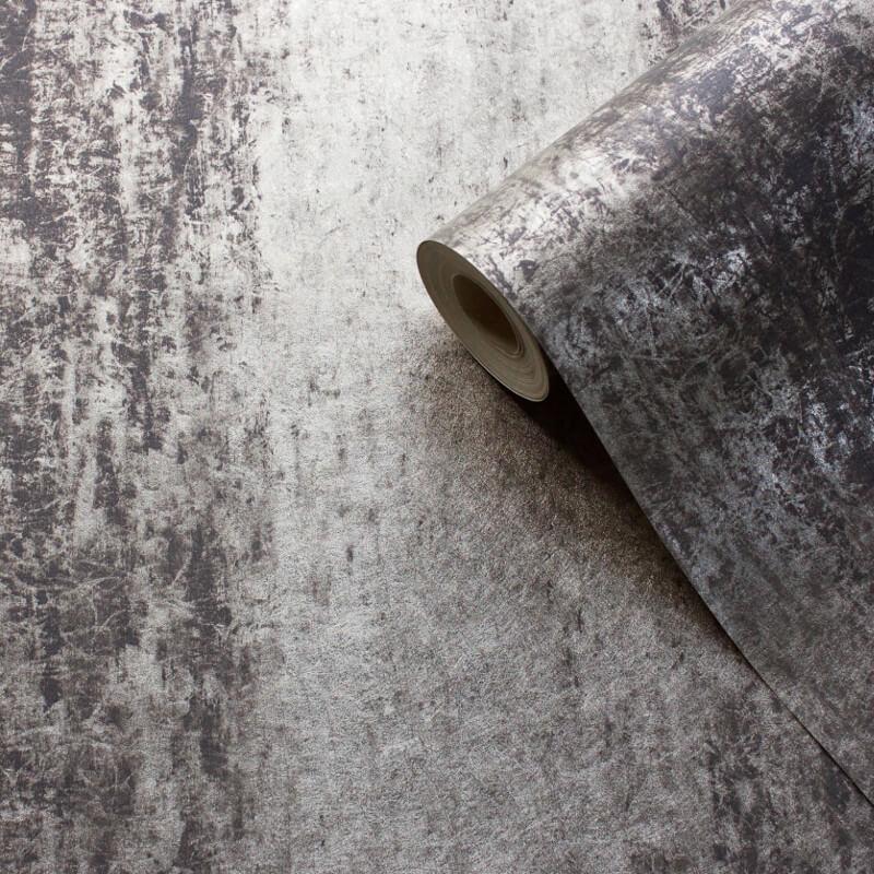 Muriva Sienna Ombre Black/Grey Foil Metallic Wallpaper - 701592