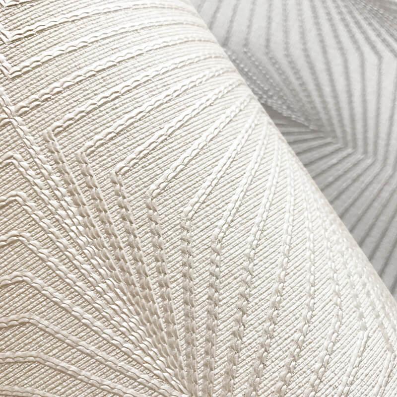 Muriva Solitaire Geo Pearl Metallic Wallpaper - 801301