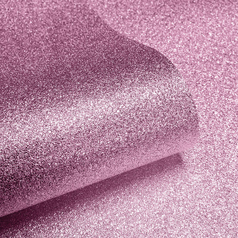 Muriva Sparkle Plain Soft Pink Glitter Wallpaper - 601530