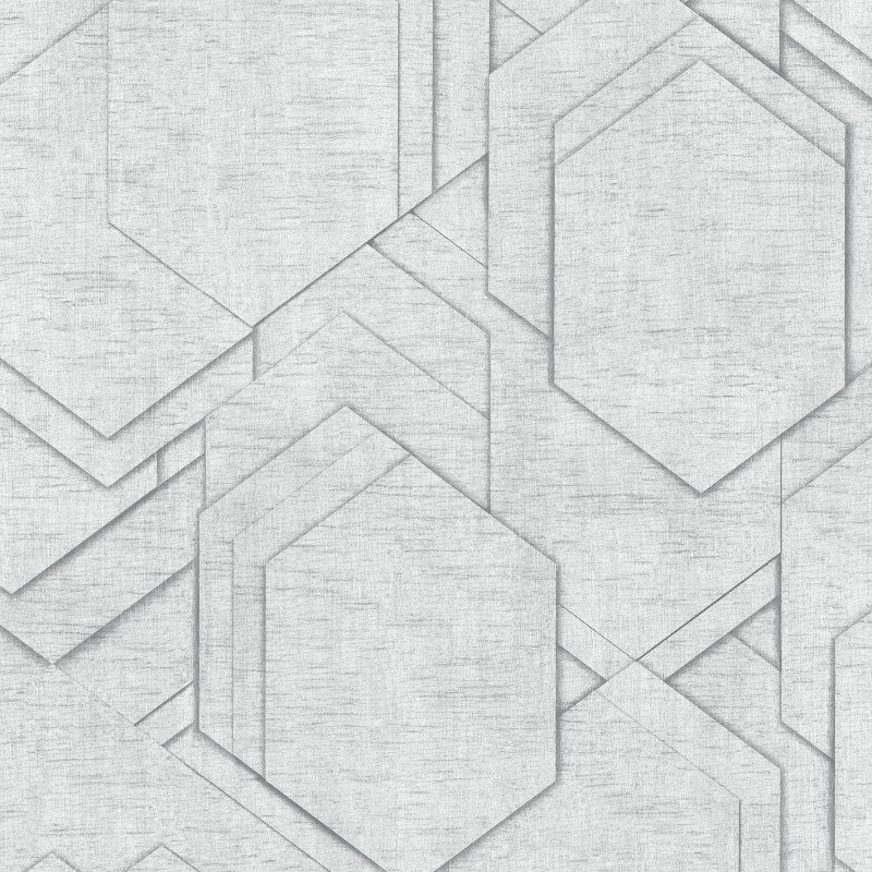 Muriva Stratis Geo Grey Wallpaper - L207-09