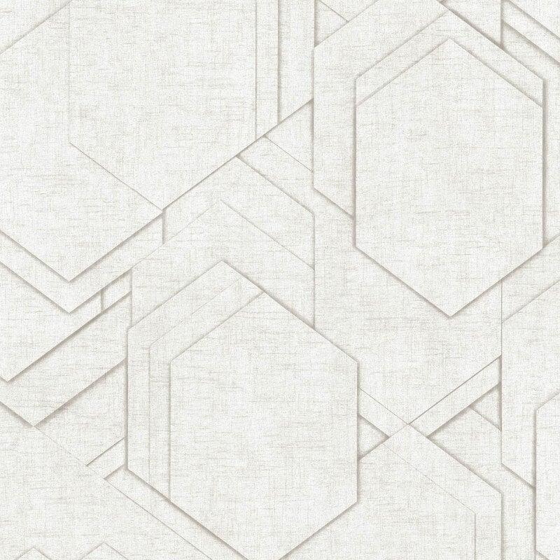 Muriva Stratis Geo Ivory Wallpaper - L207-07
