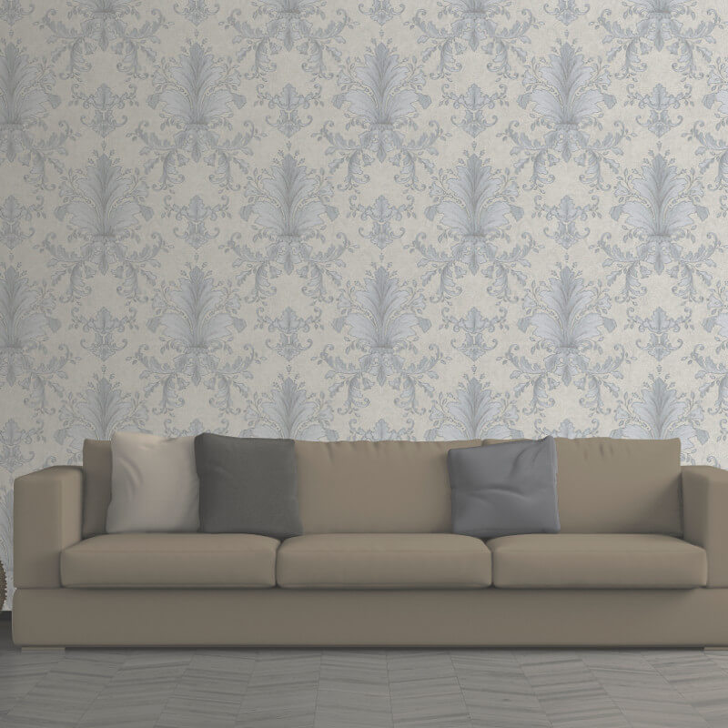 Muriva Victoria Damask Wallpaper in Taupe - 137303