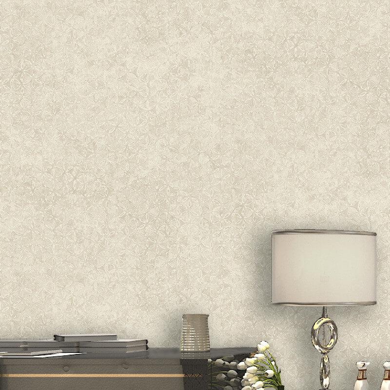 Murive Erela Geo Textured Cream Wallpaper - L48307