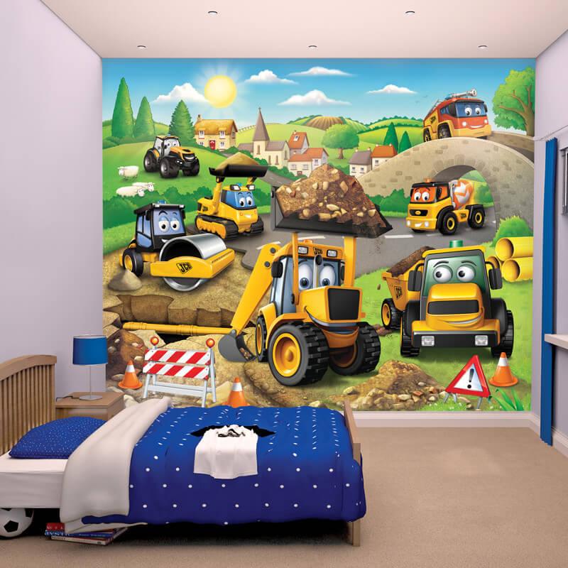 Walltastic My 1st JCB Wallpaper Mural - 43787