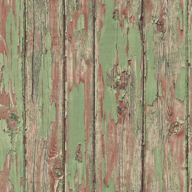 Nina Hancock Painted Plank Sage Wallpaper - NH31004