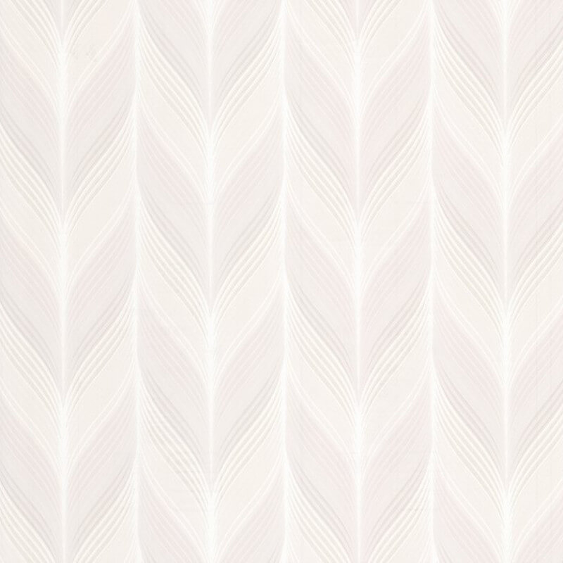 P&S International Geometric Feather Cream Wallpaper - 13591-20