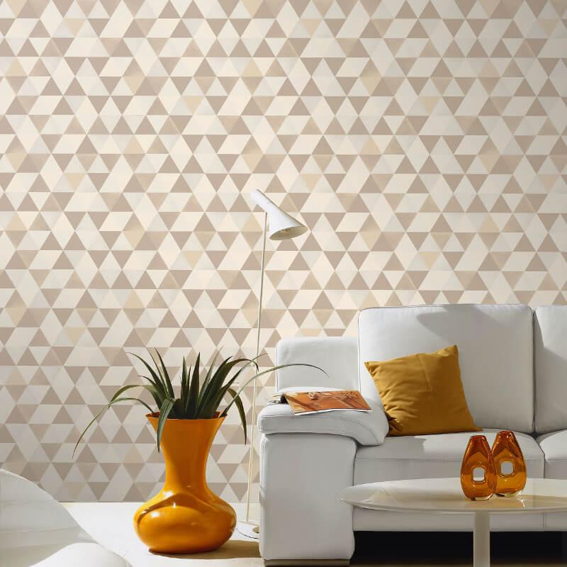 P&S International Graphics Geo Beige/Cream Wallpaper - 13267-10