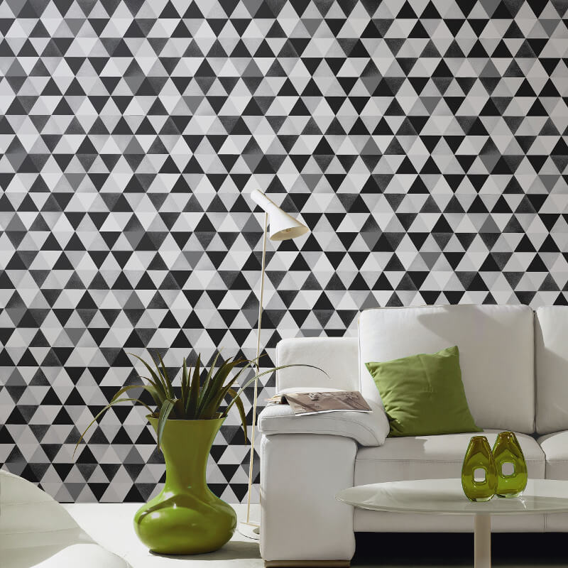P&S International Graphics Geo Black/Grey Wallpaper - 13267-30