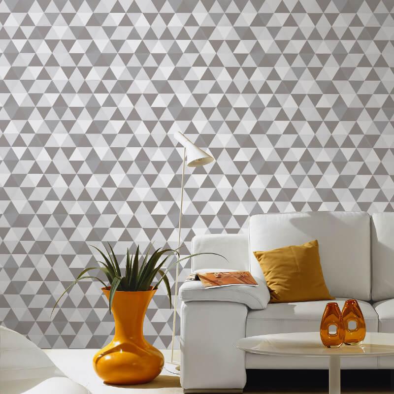 P&S International Graphics Geo Grey Wallpaper - 13267-20