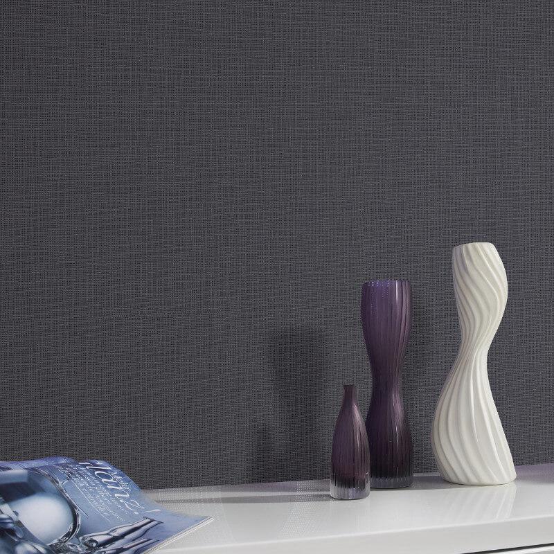 P&S International Graphics Plain Black/Grey Wallpaper - 13490-80