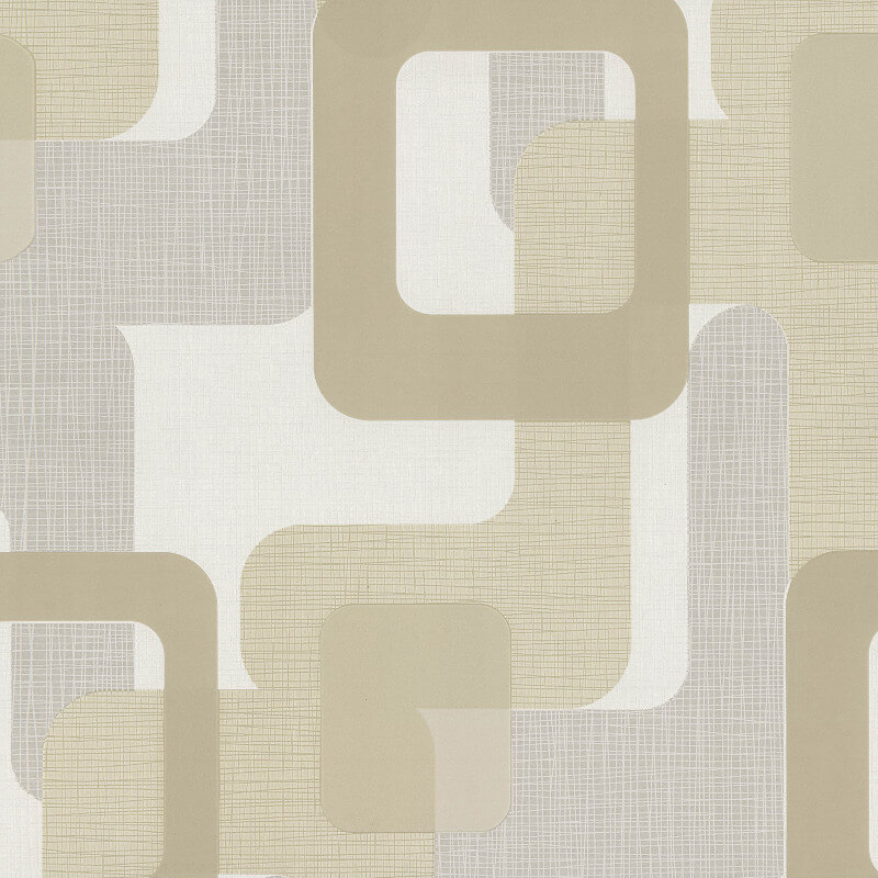 P&S International Novara Geo Beige Wallpaper - 13460-20