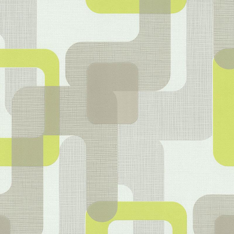 P&S International Novara Geo Green Wallpaper - 13460-40