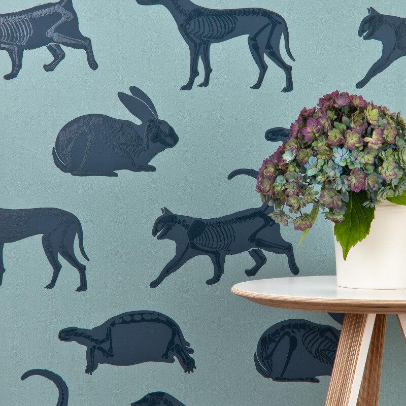 PaperBoy Animal Magic Blue Wallpaper