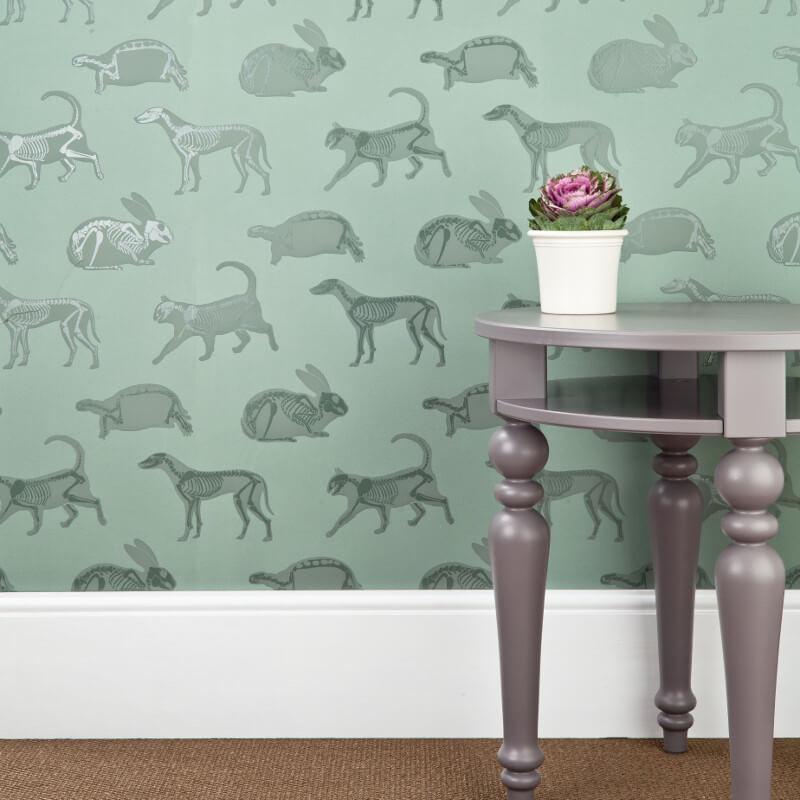 PaperBoy Animal Magic Green Wallpaper