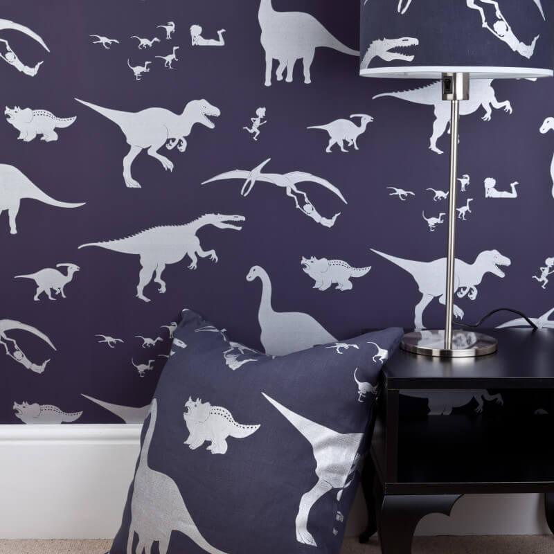 PaperBoy D'ya-think-e-saurus Purple Wallpaper