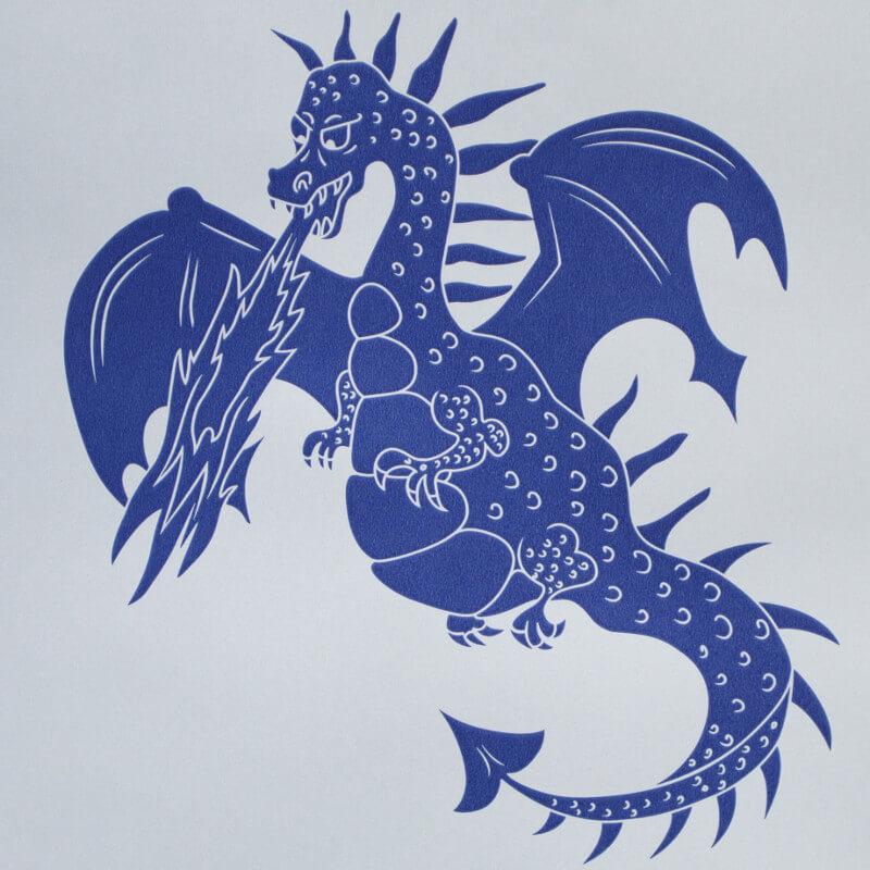 PaperBoy Ere-be-dragons Blue Wallpaper