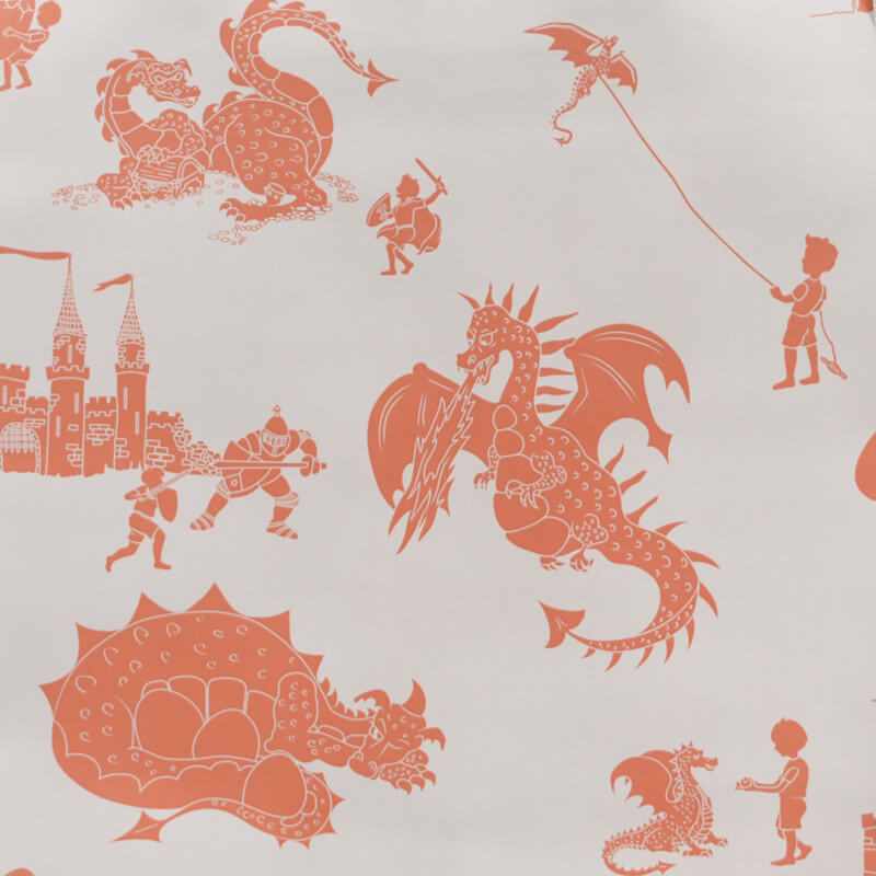 PaperBoy Ere-be-dragons Stone/Taupe Wallpaper