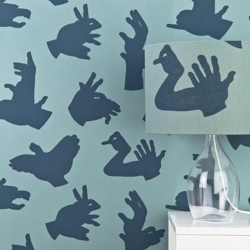 PaperBoy Hand Made Blue Wallpaper