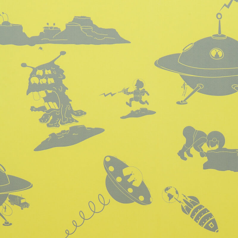 PaperBoy The Final Frontier Yellow/Grey Wallpaper