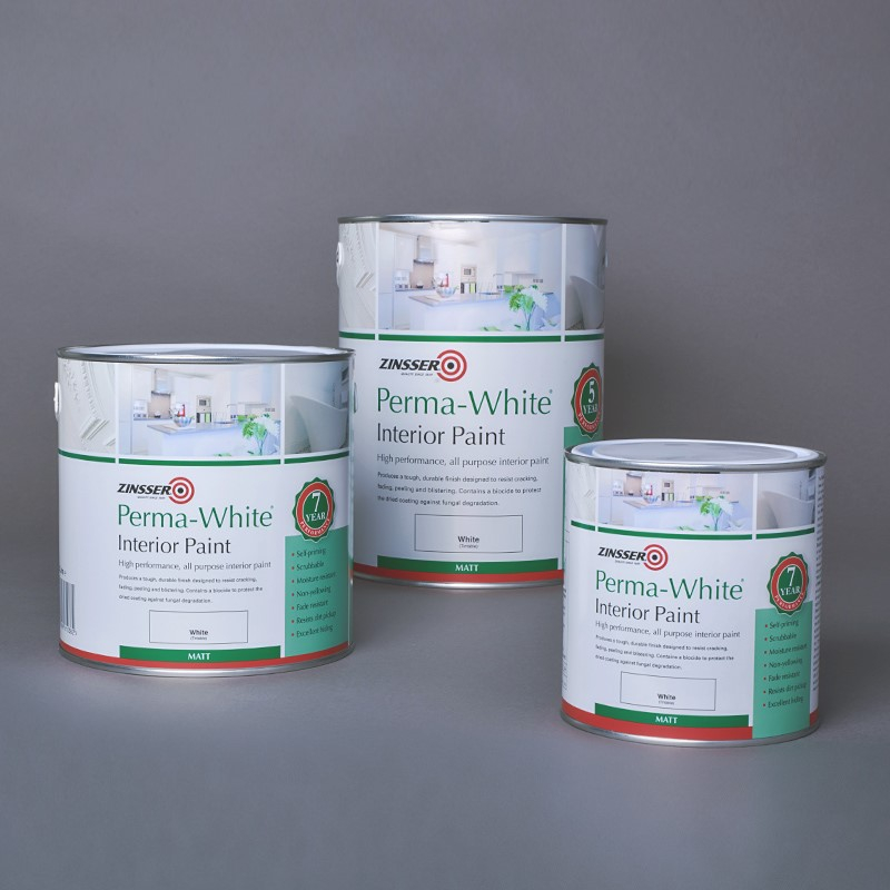 Calculating Paint Coverage Interior: Zinsser Perma White Anti Mould & Mildew Paint