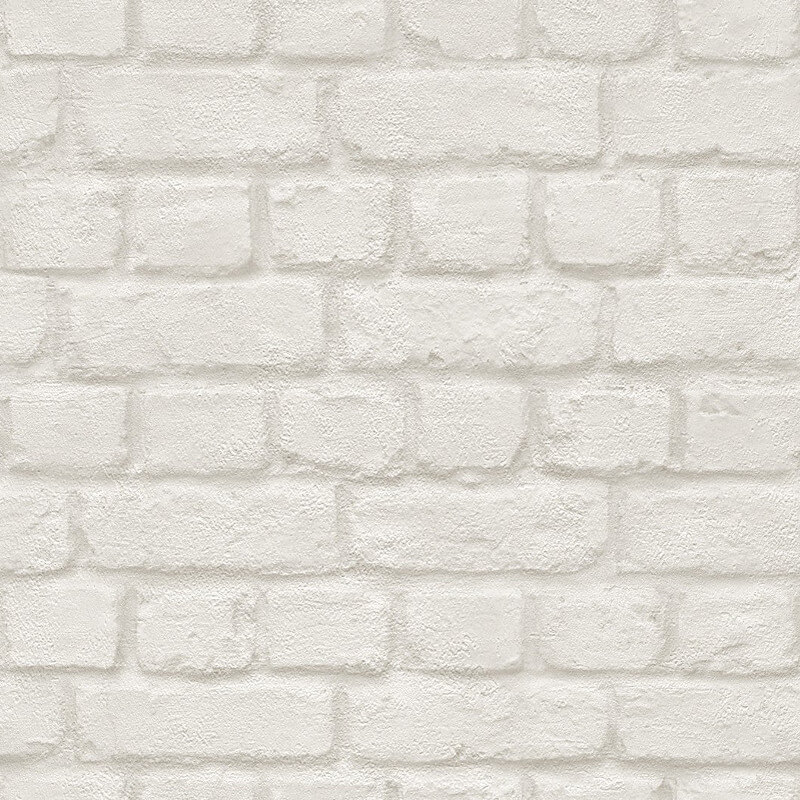 Rasch Brick Effect White Wallpaper - 226706