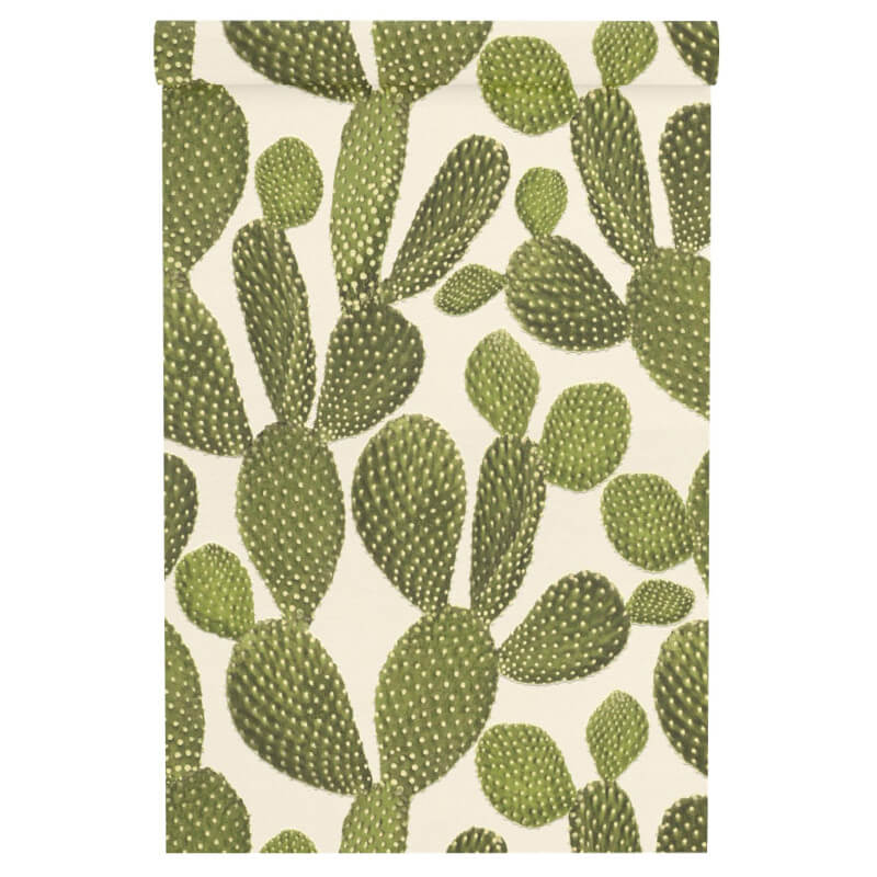 Freundin Cactus Green/Cream Wallpaper - 441000