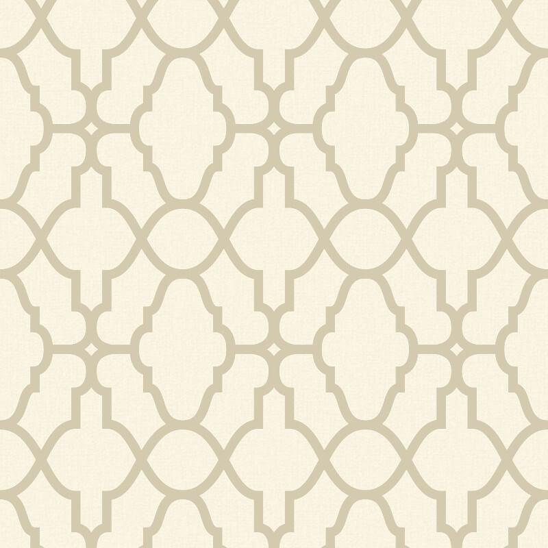 Rasch Casablanca Trellis Cream/Gold Metallic Wallpaper - 309317
