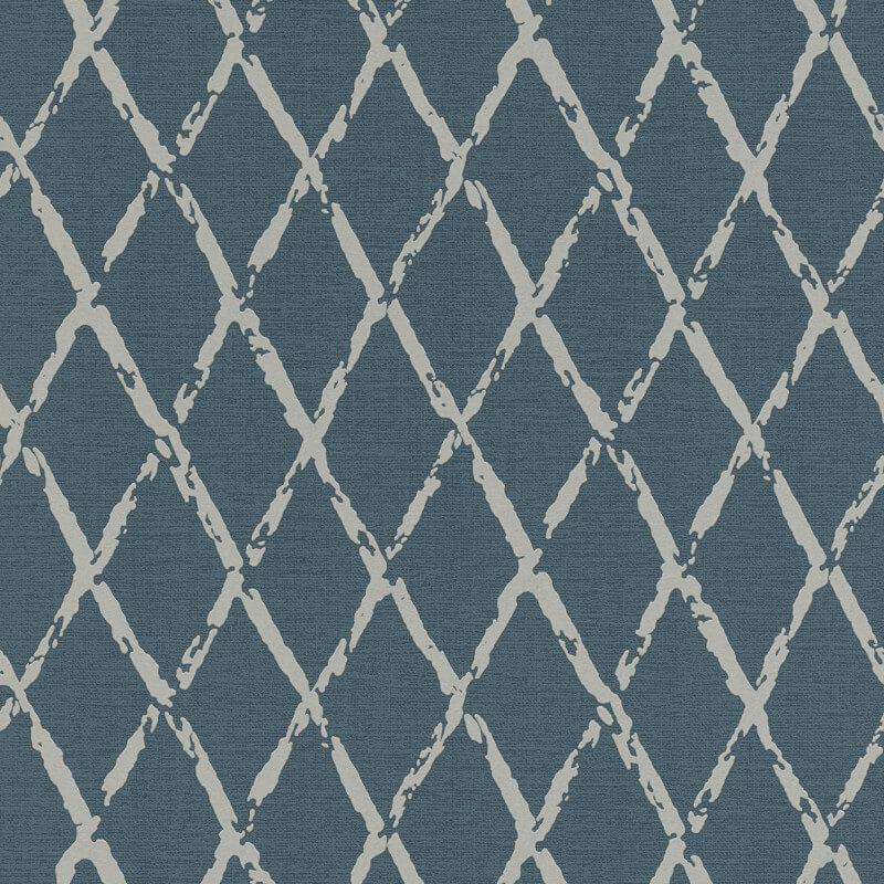 Rasch Diamond Geometric Navy Wallpaper - 805437