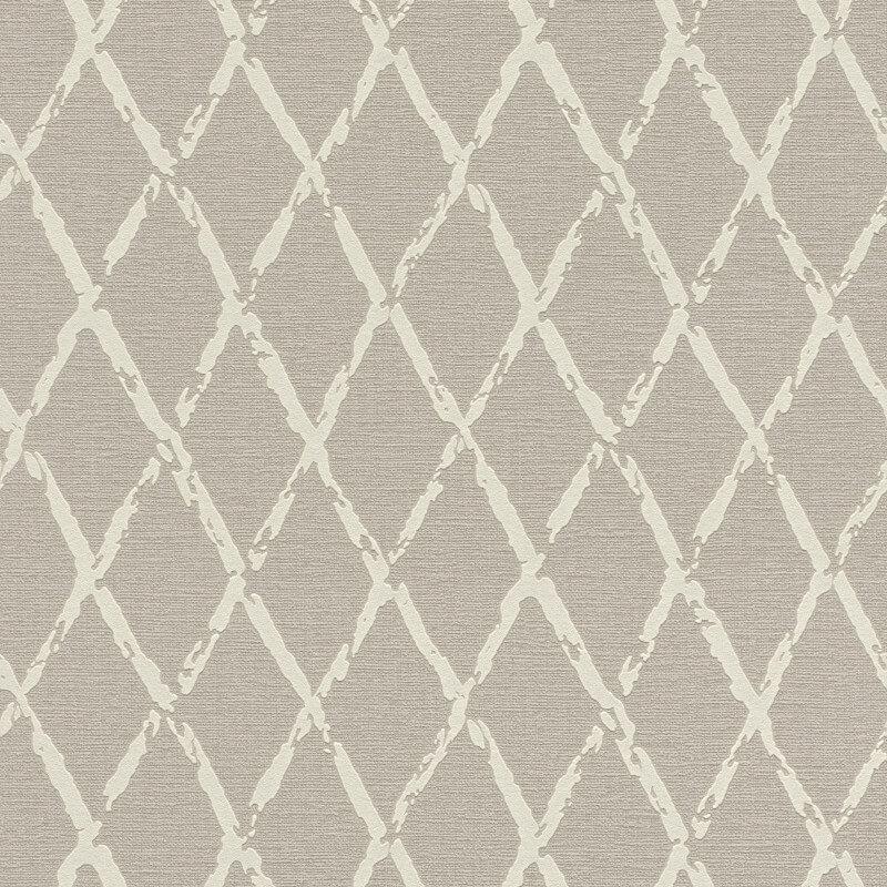 Rasch Diamond Geometric Taupe Wallpaper - 805420