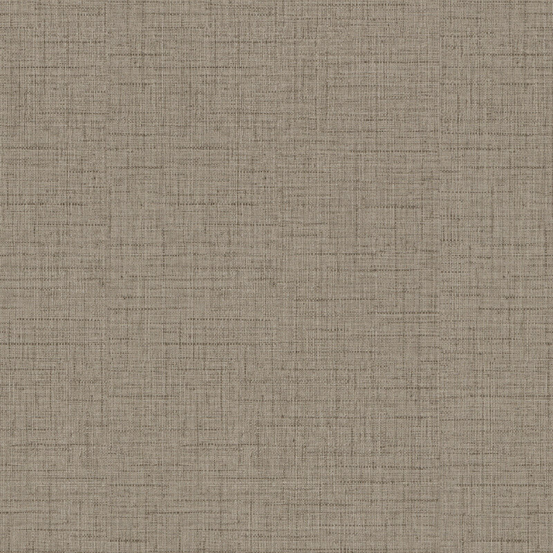 Freundin Hessian Plain Textured Dark Beige Wallpaper - 443400