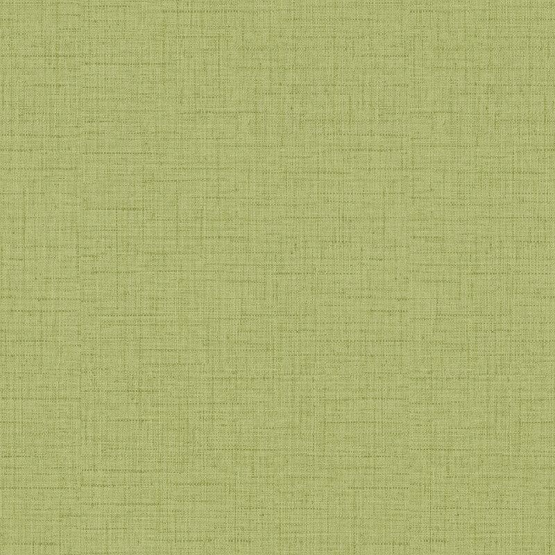 Freundin Hessian Plain Textured Spring Green Wallpaper - 443424