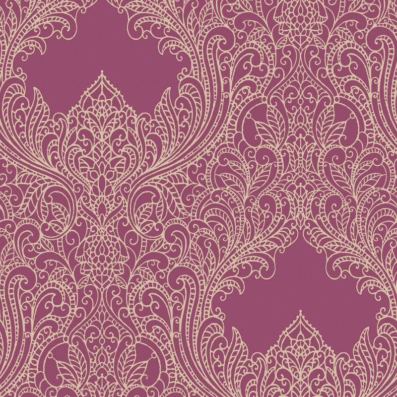Rasch Incanto Damask Pink Glitter Wallpaper - 308525