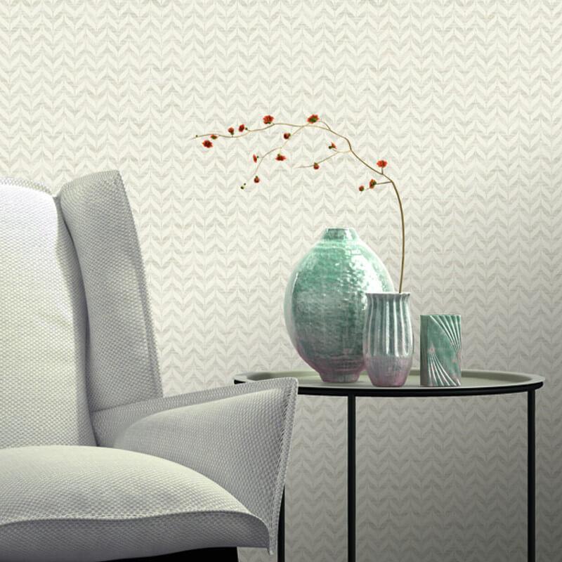 Rasch Incanto Leaf Natural Glitter Wallpaper - 308600
