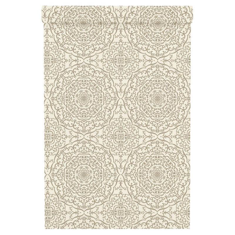 Freundin Moroccan Geo Cream/Gold Metallic Wallpaper - 442908