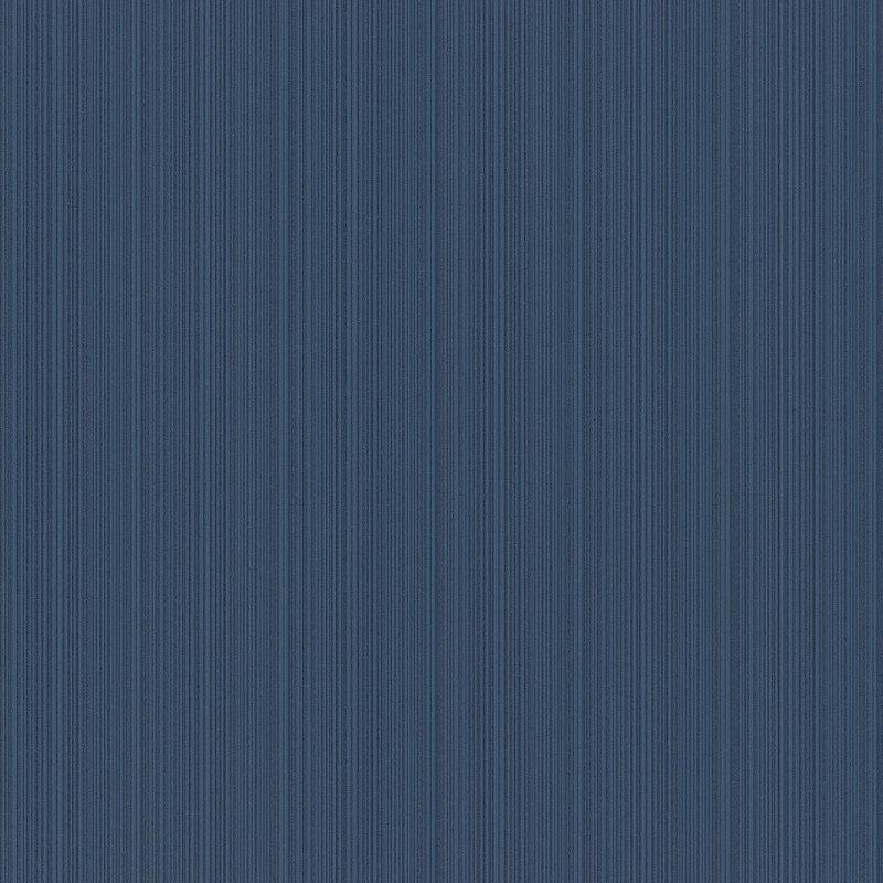 Rasch Pin Stripe Textured Navy Wallpaper - 431964