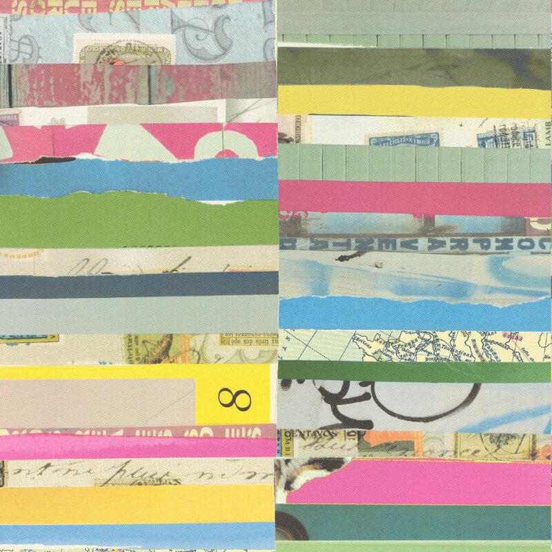 Freundin Plank Collage Multi Wallpaper - 442403