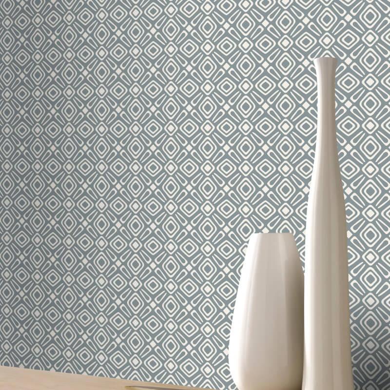 Rasch RetroGeometric Grey Wallpaper 277203