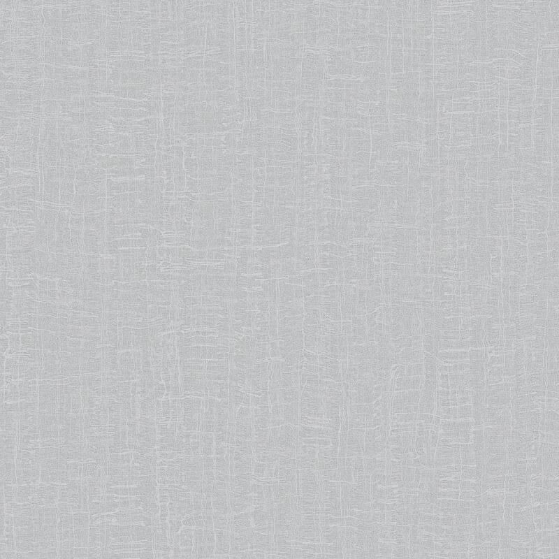Rasch Sassari Plain Textured Silver Metallic Wallpaper - 520309
