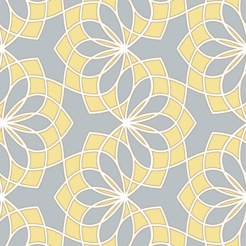 Rasch Spiro Geometric Yellow/Grey Glitter Wallpaper - 304015