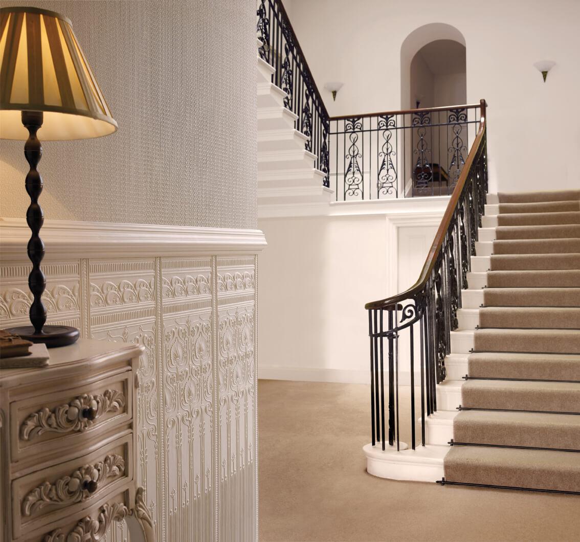 lincrusta edwardian dado panels rd1964. Black Bedroom Furniture Sets. Home Design Ideas