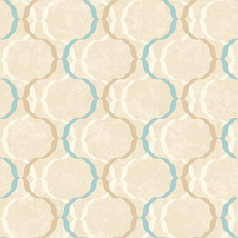 SK Filson Diamond Trellis Blue Wallpaper - SK10029
