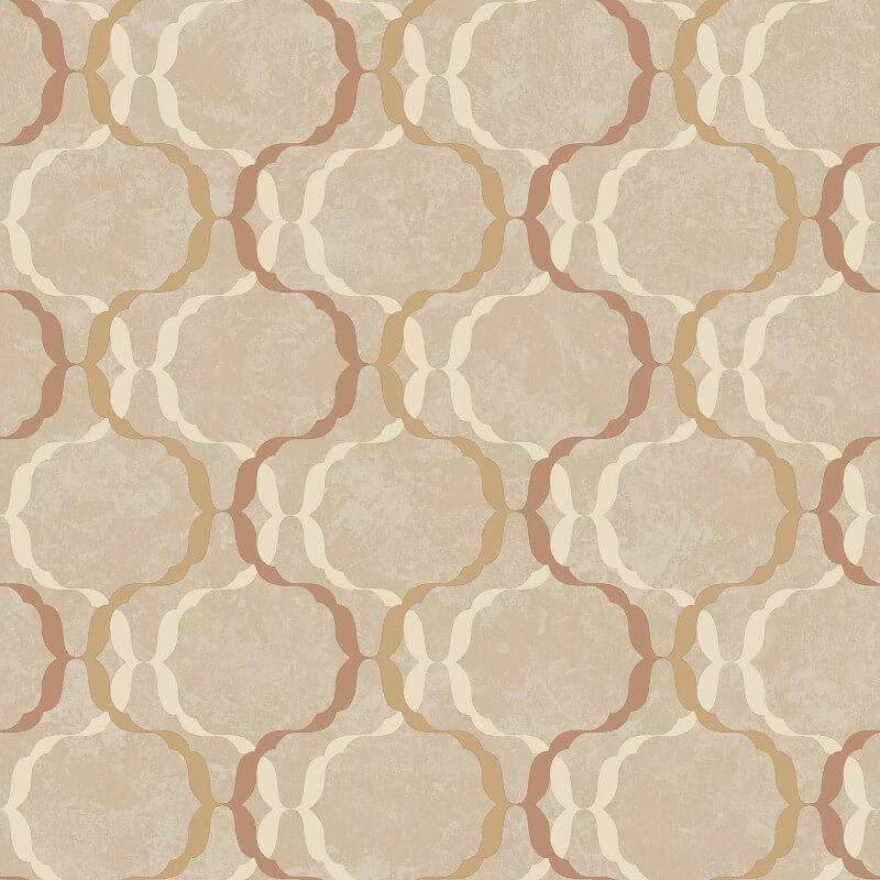 SK Filson Diamond Trellis Copper Wallpaper - SK10031