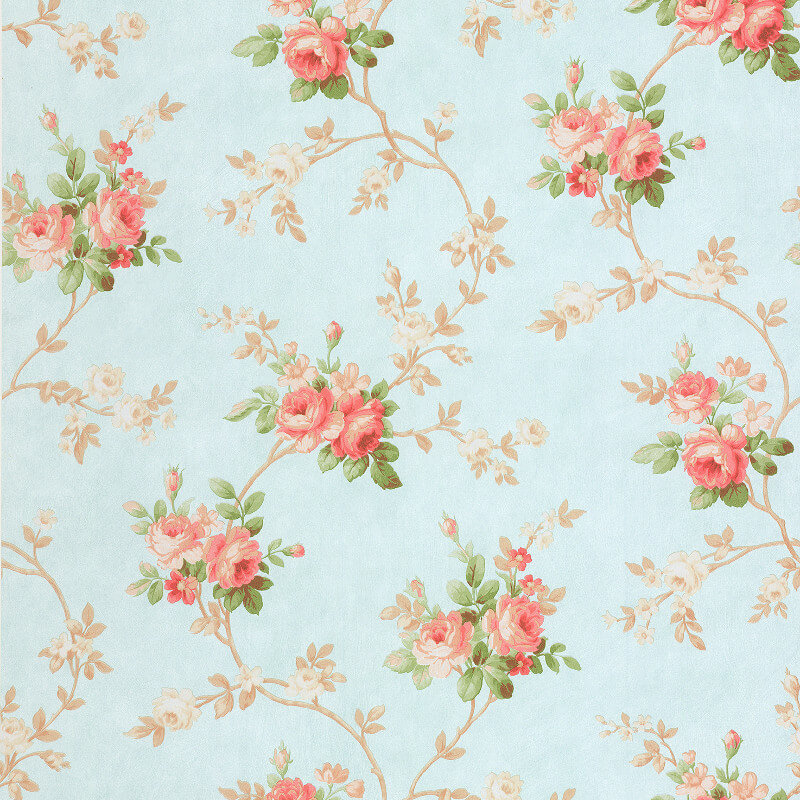 SK Filson Gabriella Floral Trail Blue Wallpaper - DE41407