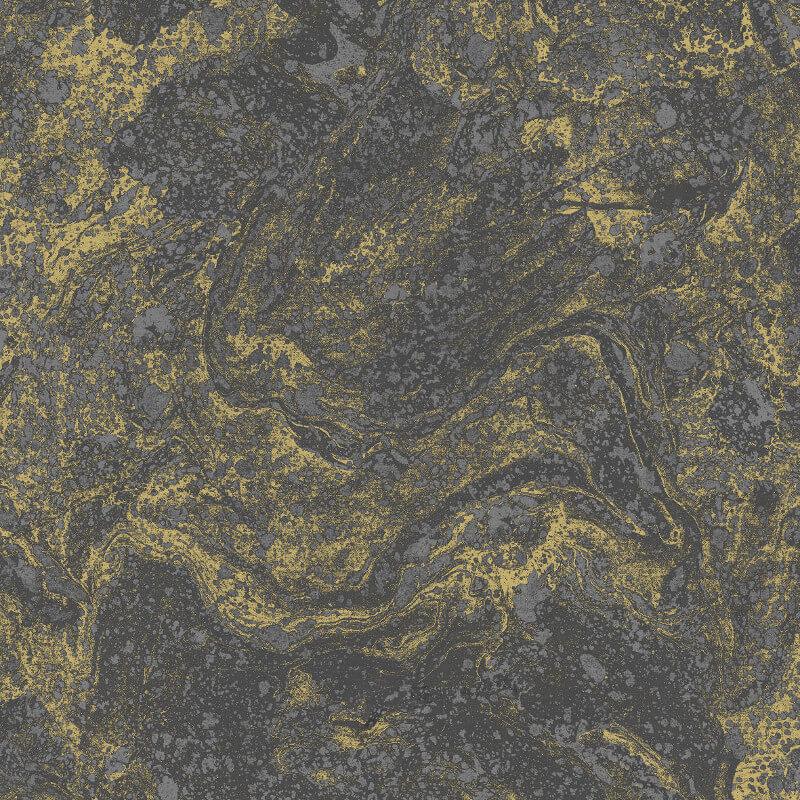 SK Filson Infused Marble Black/Gold Metallic Wallpaper - SK20030