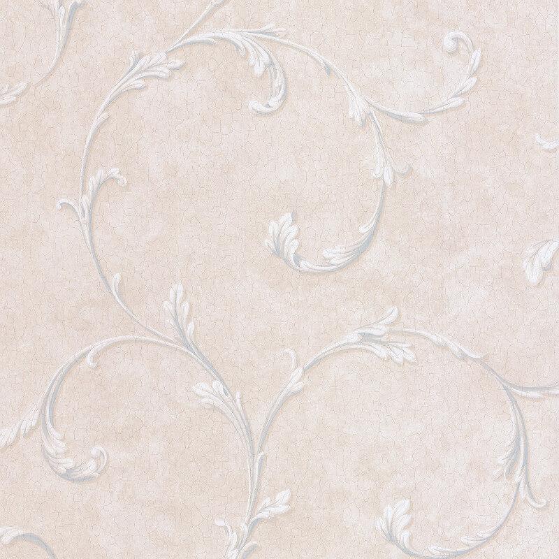 SK Filson Madelyn Scroll Blue/Stone Wallpaper - DE41453