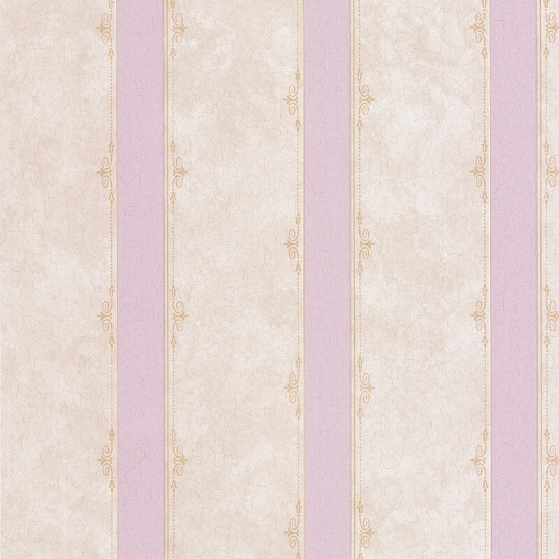 SK Filson Madelyn Striped Lilac/Beige Wallpaper - DE41450