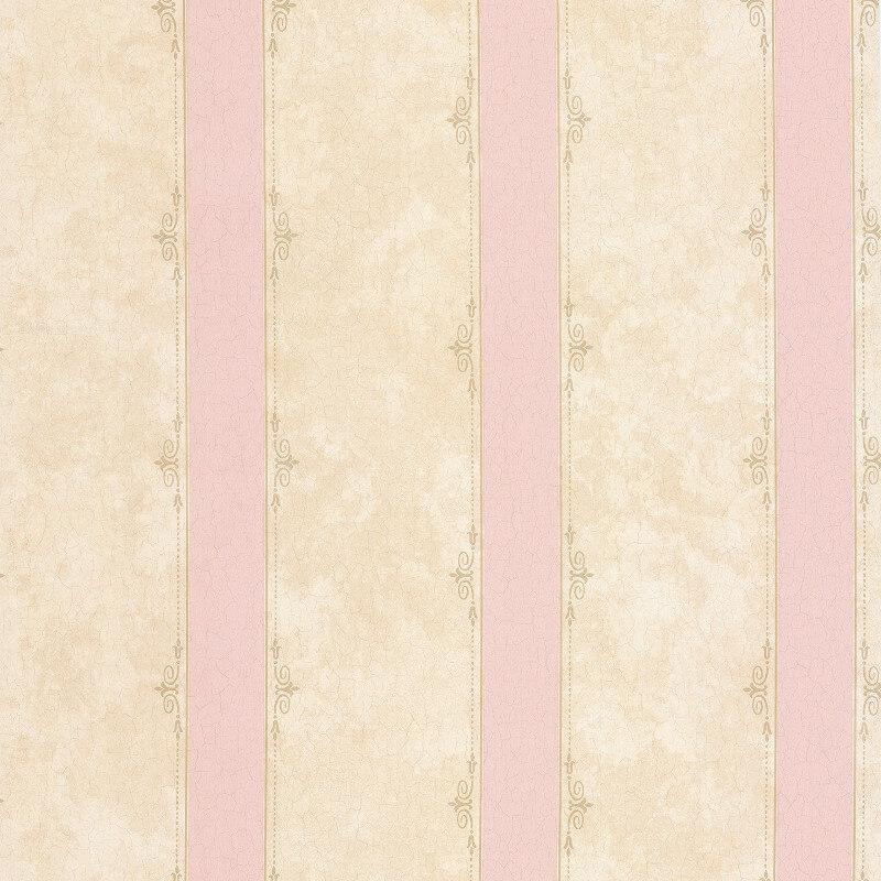 SK Filson Madelyn Striped Pink/Stone Wallpaper - DE41448